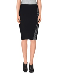 Hope Collection Knee Length Skirts Black