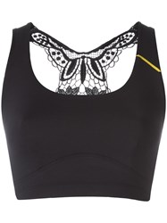 Sapopa Embroidered Back Crop Top Black