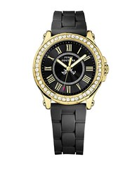 Juicy Couture Ladies Pedigree Watch With Heart Tipped Hand Black