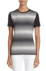 St. John Women's Collection Zigzag Jersey Tee