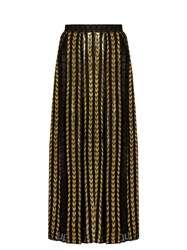 Dodo Bar Or Brenda Fil Coupe Maxi Skirt Black Gold