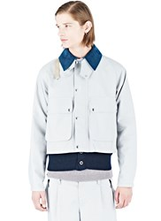 Kolor Short Boxy Jacket Grey