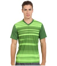 Brooks Fly By Short Sleeve Top Heather Forest Blur Men's Short Sleeve Pullover Green