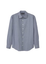 Mango Slim Fit Micro Houndstooth Shirt Navy