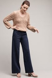 Anthropologie Pilcro Wide Leg Chinos Navy