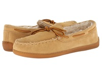Minnetonka Pile Lined Hardsole Tan Suede Men's Shoes