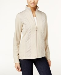 Styleandco. Style Co. Petite Fleece Quilted Jacket Only At Macy's Pure Cashmere