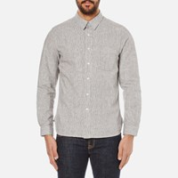 Garbstore Men's Wren Utility Shirt Stripe Grey