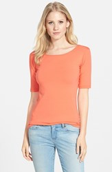 Women's Lotus Effect Reversible Elbow Sleeve Tee Grapefruit