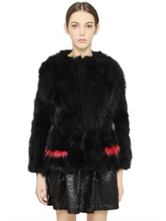 Blugirl Murmansky Fur Coat With Inserts