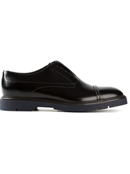 Fendi Laceless Oxford Shoes Black