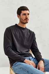 Cpo Heavyweight Long Sleeve Crew Neck Tee Washed Black