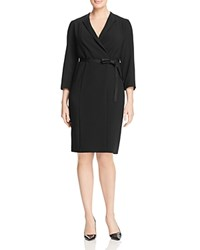 Marina Rinaldi Diva Faux Wrap Dress Black