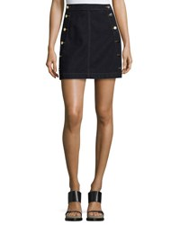 J Brand Ashlyn Side Button Denim Mini Skirt Blue