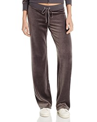 Juicy Couture Black Label Original Flare Velour Pants In Aubergine 100 Bloomingdale's Exclusive Top Hat Grey