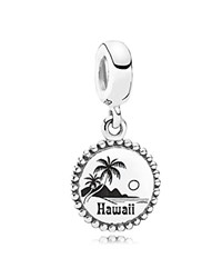 Pandora Design Pandora Dangle Charm Sterling Silver Unforgettable Moment Hawaii Moments Collection