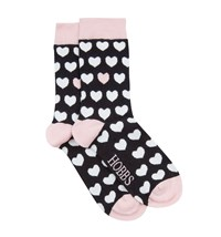 Hobbs Heart Sock Black