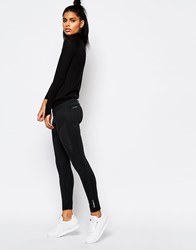 Reebok Leggings With Side Mesh Panel Detail Black