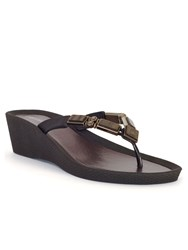 Chesca Mother Of Pearl Beaded Sandal Black