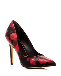Charles By Charles David Pact Floral Pointed Toe Pumps Compare At 99 Red