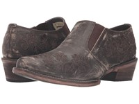 Roper Emerson Brown Sanded Leather Women's Slip On Shoes
