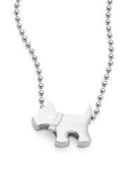 Alex Woo Sterling Silver Scottie Dog Icon Necklace