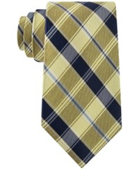 Club Room Men's Traditional Plaid Tie Only At Macy's Yellow