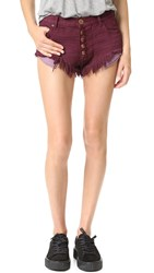One Teaspoon Rollers Shorts Bordeaux