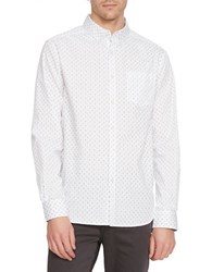 Kenneth Cole Surfboard Button Front Shirt White Combo