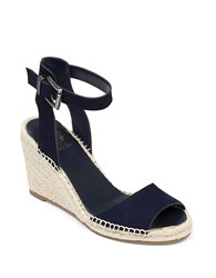 Vince Camuto Tagger Nubuck Espadrille Wedge Sandals Navy