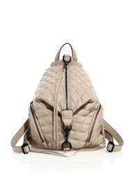 Rebecca Minkoff Julian Medium Quilted Leather Backpack Nude