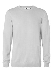 Topman Grey Twist Crew Neck Jumper