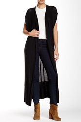 14Th And Union 'Emery' Open Front Long Cardigan Black