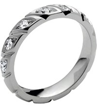 Chaumet Torsade De Platinum And Diamond Wedding Band