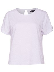 Sugarhill Boutique Iris Textured Boxy T Shirt White