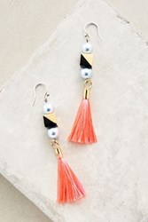 Anthropologie Effie Tassel Earrings Peach