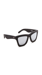 Valley Eyewear Db Sunglasses Matte Black Silver Mirror
