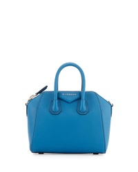 Mini Antigona Leather Satchel Bag Electric Blue Givenchy