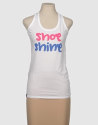 Shoeshine Sleeveless T Shirts White