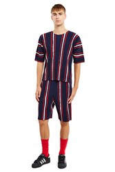 Opening Ceremony Flags Elastic Shorts Blue Base Stripe