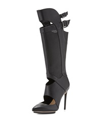 Bcbgmaxazria Adored Leather Stiletto Boot Black