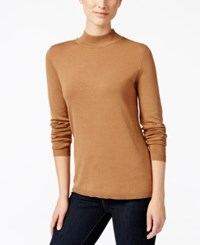 Charter Club Mock Turtleneck Sweater Only At Macy's Salty Nut