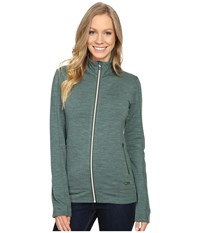 Icebreaker Dia Long Sleeve Zip Coriander Heather Snow Coriander Heather Women's Clothing Green