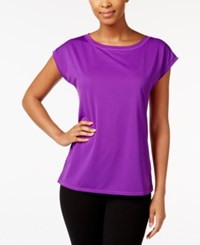 Ideology Mesh Back Top Only At Macy's Push It Purple