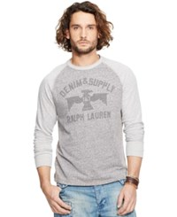 Denim And Supply Ralph Lauren Graphic Jersey Crewneck Gray