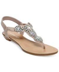 Madden Girl Madden Girl Tuzzie T Strap Jeweled Sandals Women's Shoes