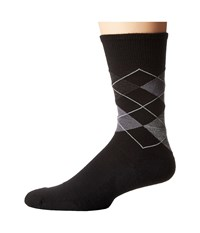 Smartwool Diamond Jim Black Medium Gray Heather Men's Crew Cut Socks Shoes