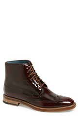 Boga Men's 'Bossman' Wingtip Boot Oxblood