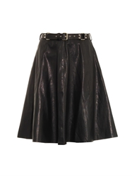 Rika Leather A Line Skirt
