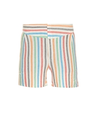 Robinson Les Bains Striped Cotton Blend Jersey Shorts